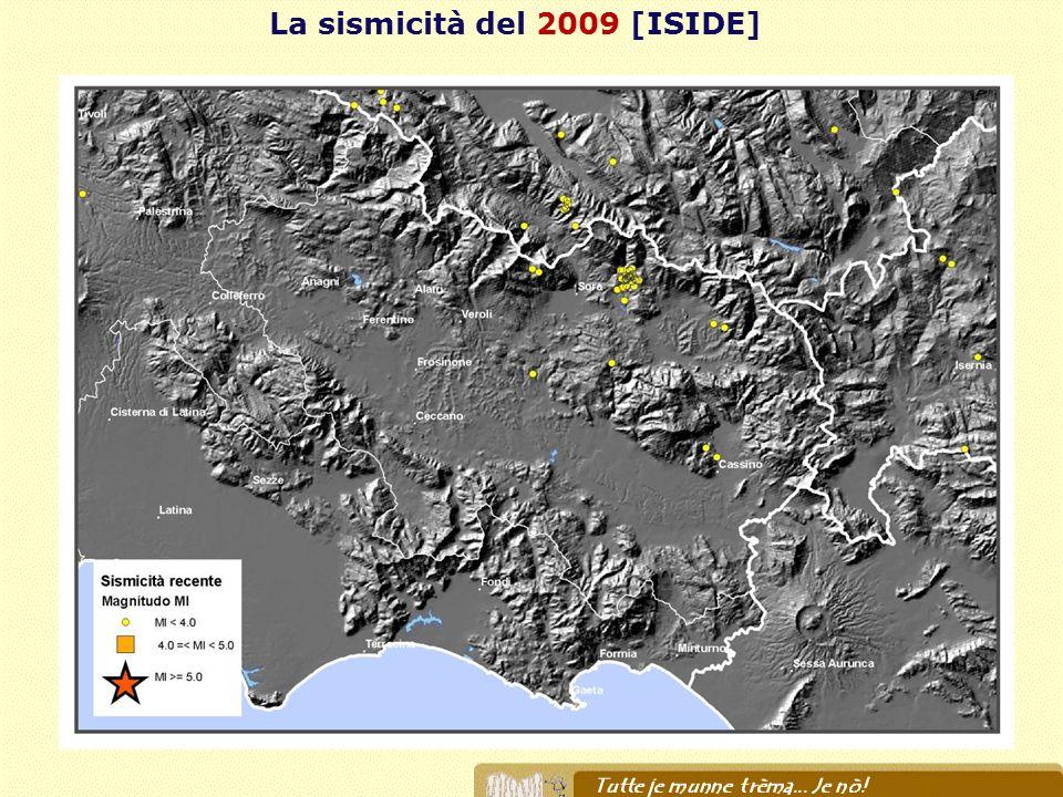 La sismicità del 2009 [ISIDE]